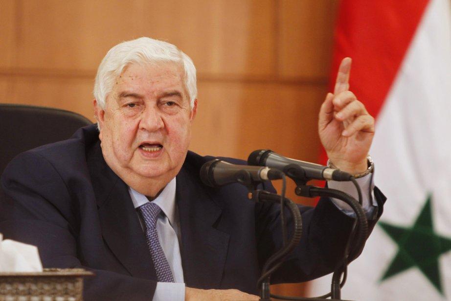 À Damas, le chef de la diplomatie Walid... (Photo: Khaled al-Hariri, Reuters)