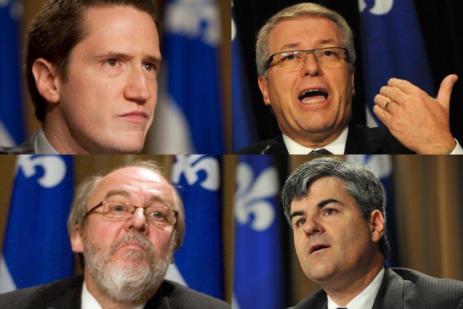 Benoît Charette, Daniel Ratthé, Marc Picard et Éric... (Photomontage La Presse)