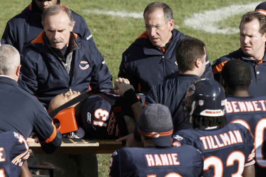 Le receveur de passes des Bears de Chicago... (Photo: AP)