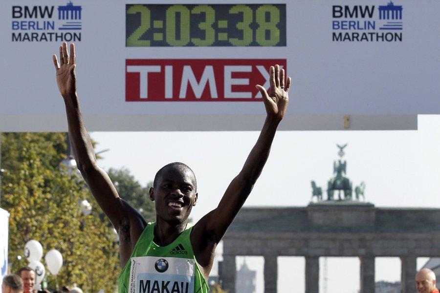 Le Kényan Patrick Makau a réalisé un chrono... (Photo: AP)