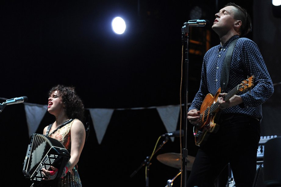 Le spectacle de la formation montréalaise Arcade Fire... (Photo: Bernard Brault, archives La Presse)