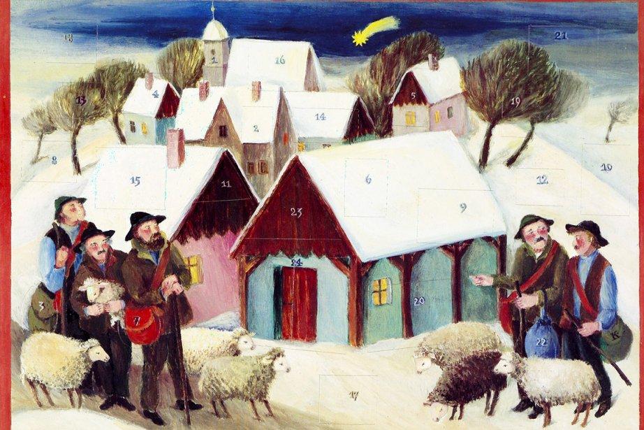 """Calendrier de 1984, """"Les bergers de Noël""""... (Photos fournies par le Musée d'État des cultures européennes, Berlin)"""