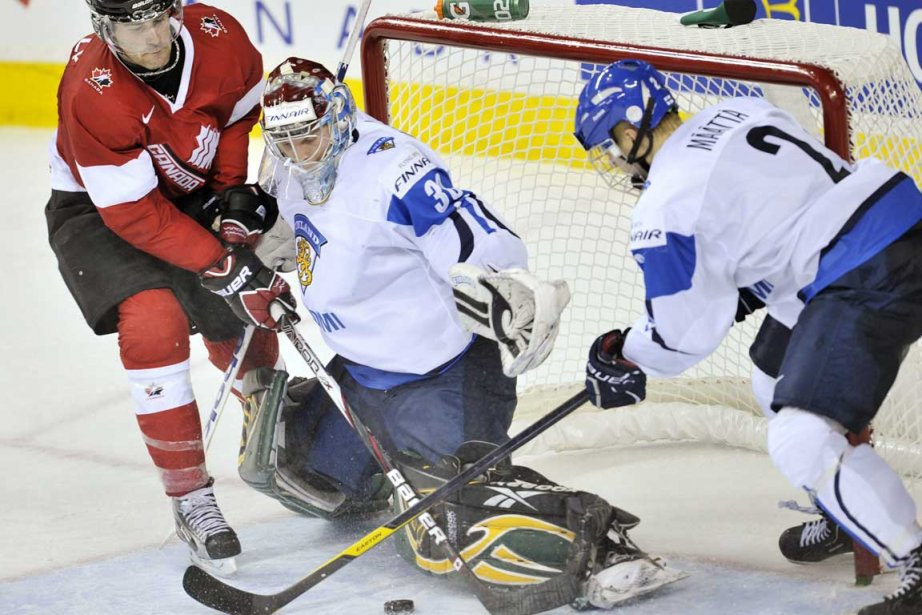 Le Canada affrontait la Finlande lors d'un match... (Photo La Presse Canadienne)