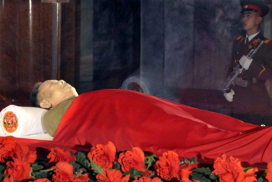 La dépouille deKim Jong-il.... (Photo AFP)