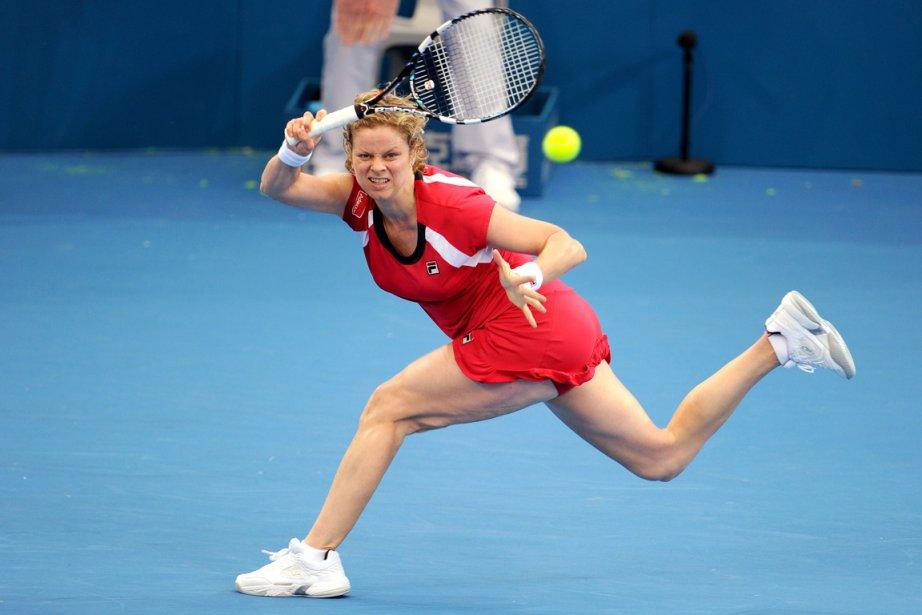 Kim Clijsters lors de son match contre Simona... (Photo Willam West, AFP)