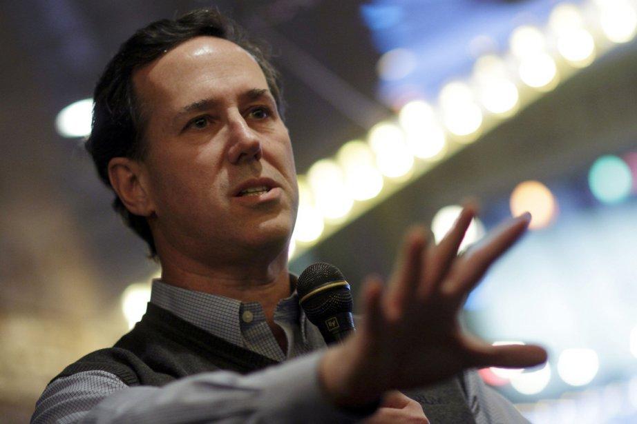 Rick Santorum, qui a fait une percée dans... (Photo: John Gress, Reuters)