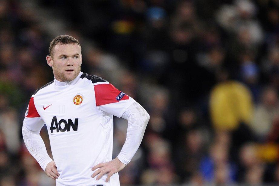 L'attaquant de Manchester United Wayne Rooney a... (Photo: Fabrice Coffrini, AFP)