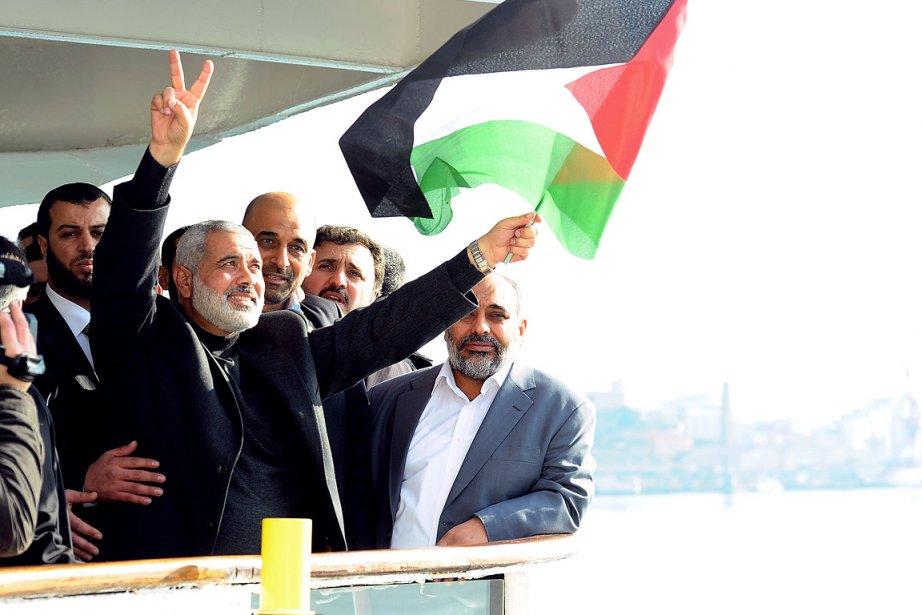 M. Haniyeh, qui effectue son premier voyage à... (Photo: AFP)