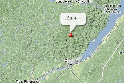 L'Étape, dans le Parc des Laurentides, dans la... (maps.google.ca)