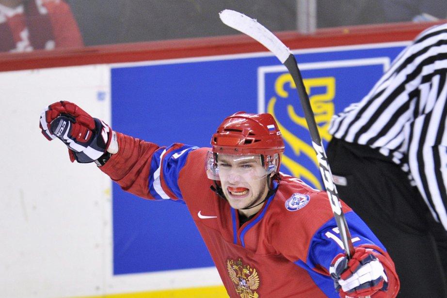 Grigori Zheldakov a donné la victoire aux Russes... (Photo: Nathan Denette, La Presse Canadienne)