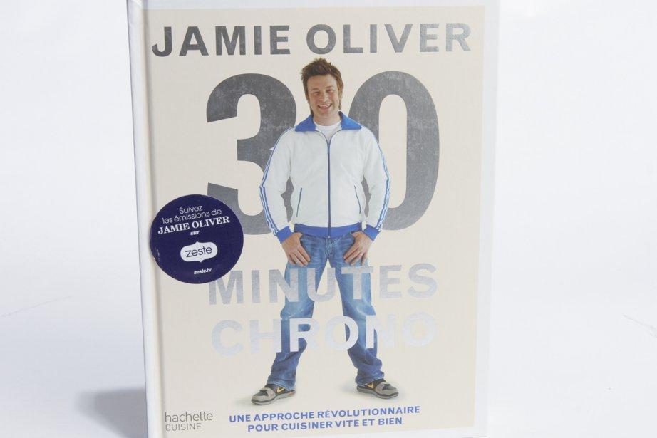 Le livre de Jamie Oliver, 30 minutes chrono... (Photo; Olivier Pontbriand, collaboration spéciale)