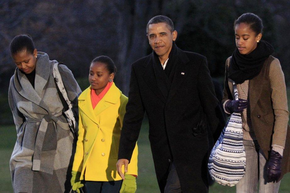 Le président Obama et sa petite famille -sa... (Photo: Kevin Lamarque, Reuters)