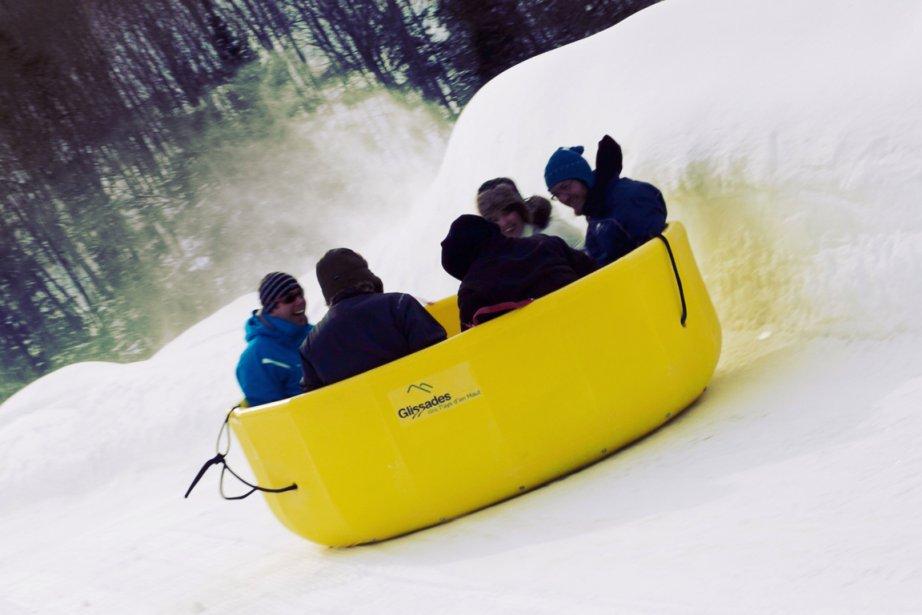 Raft sur neige aux Glissades des pays d'en... (Photo: fournie par les Glissades des pays d'en haut)