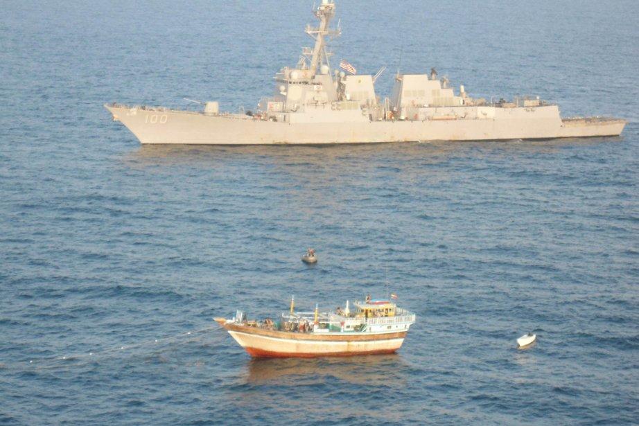 «Aux environs de midi et demi, un (hélicoptère)... (Photo: US NAVY/AFP)