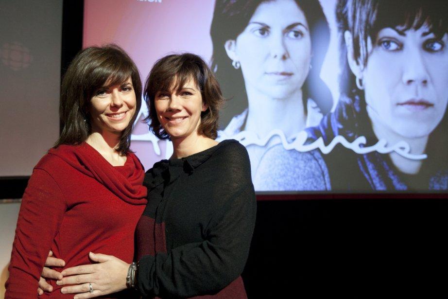 Myriam LeBlanc et Geneviève Brouillette au lancement de... (Photo: Édouard Plante-Fréchette, La Presse)