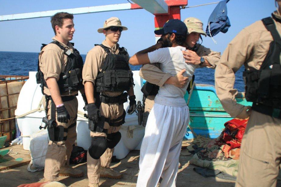 La Marine américaine a libéré jeudi en mer... (Photo: AFP)