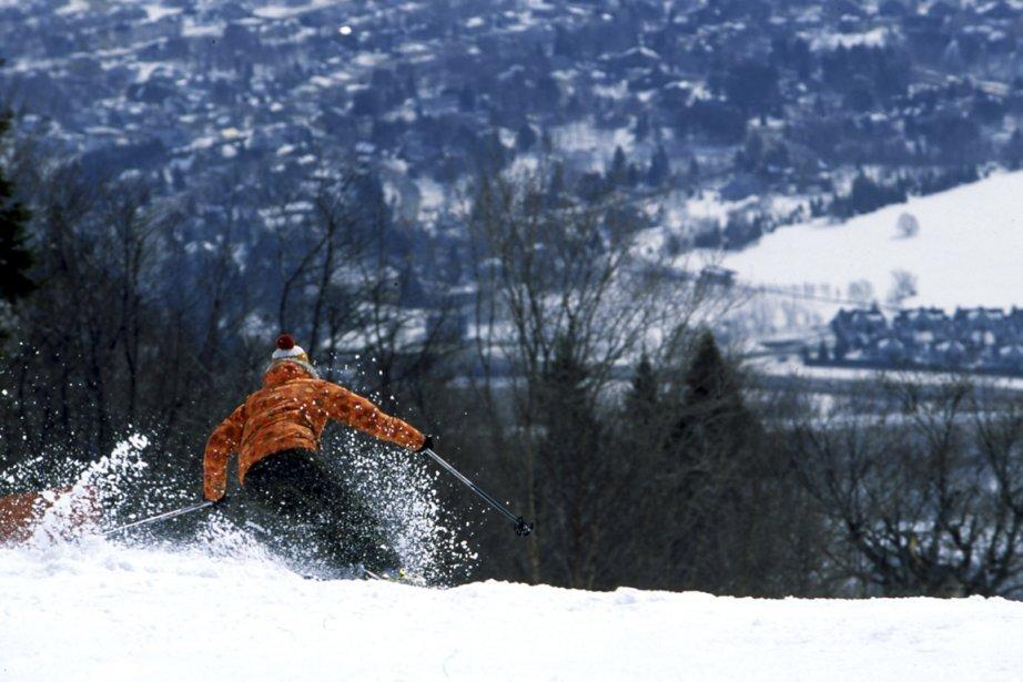Lorsque le pâle soleil d'hiver descend en après-midi... (Photo: fournie par le Mont-Sainte-Anne)