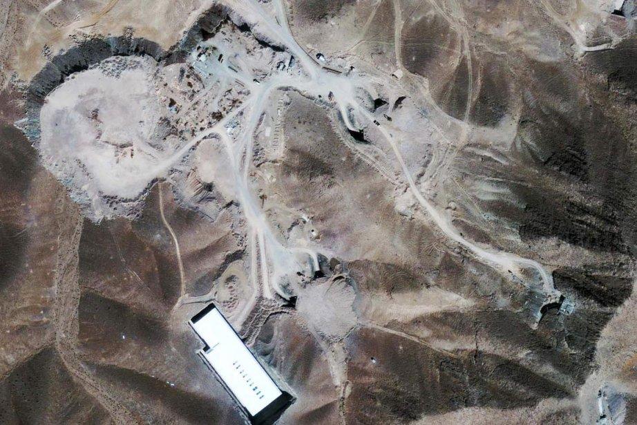 Cette photo satellitaire, prise en 2009, montre un... (Photo: Archives AP)