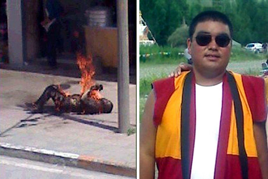 En août dernier, Tsewang Norbu, un jeune homme... (Photo: AFP (Archives))