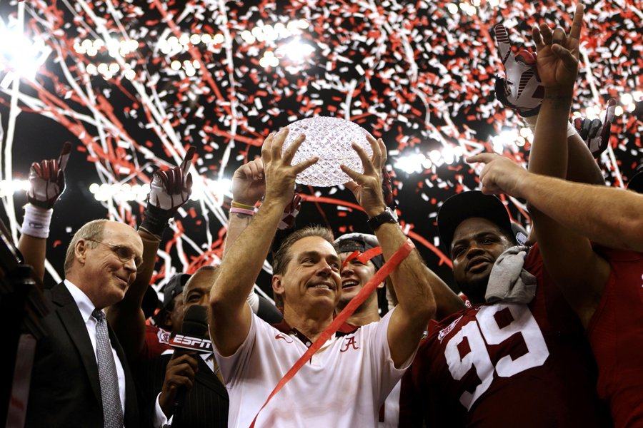 L'entraîneur-chef du Crimson Tide de l'Université d'Alabama, Nick... (Photo: Reuters)