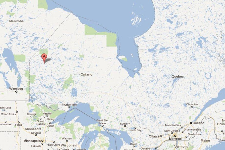 Le point A, sur notre carte, localise la... (Photo: Google Maps (capture d'écran))
