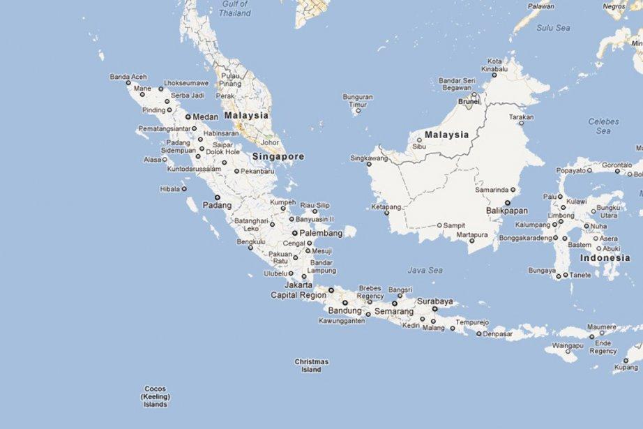 Une alerte au tsunami a été lancée par... (Photo: Google Maps (capture d'écran))