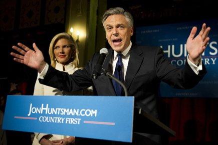Jon Huntsman a redit la nécessité de rassembler... (Photo: AFP)