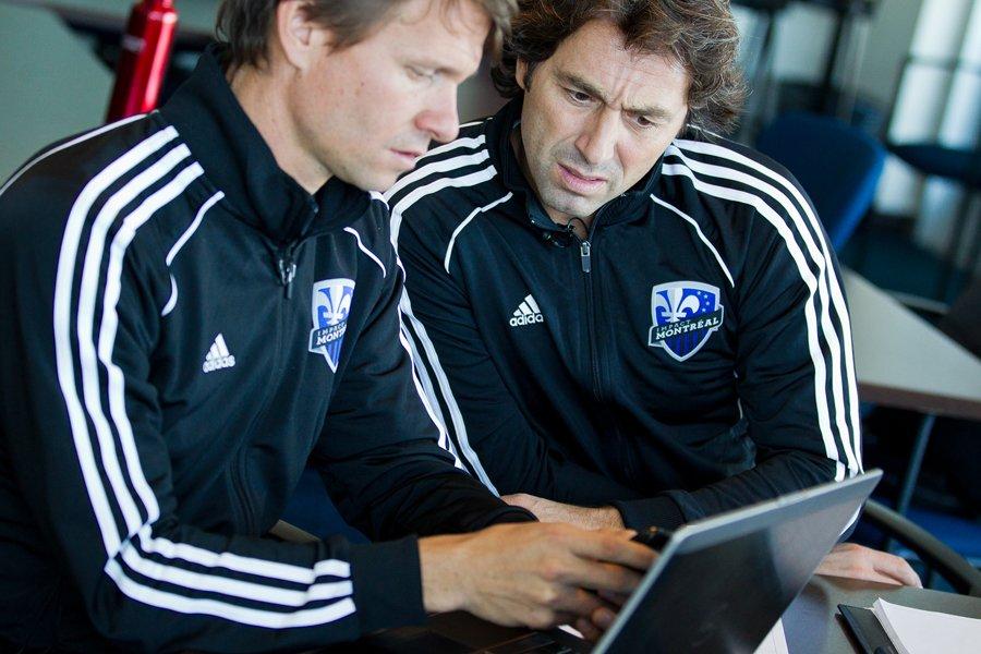 L'entraîneur-chef de l'Impact, Jesse Marsch, et le directeur... (Photo: Edpuard Plante-Fréchette, La Presse)