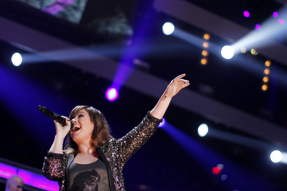 Kelly Clarkson au Madison Square Garden en décembre... (Photo: Carlo Allegri, Reuters)