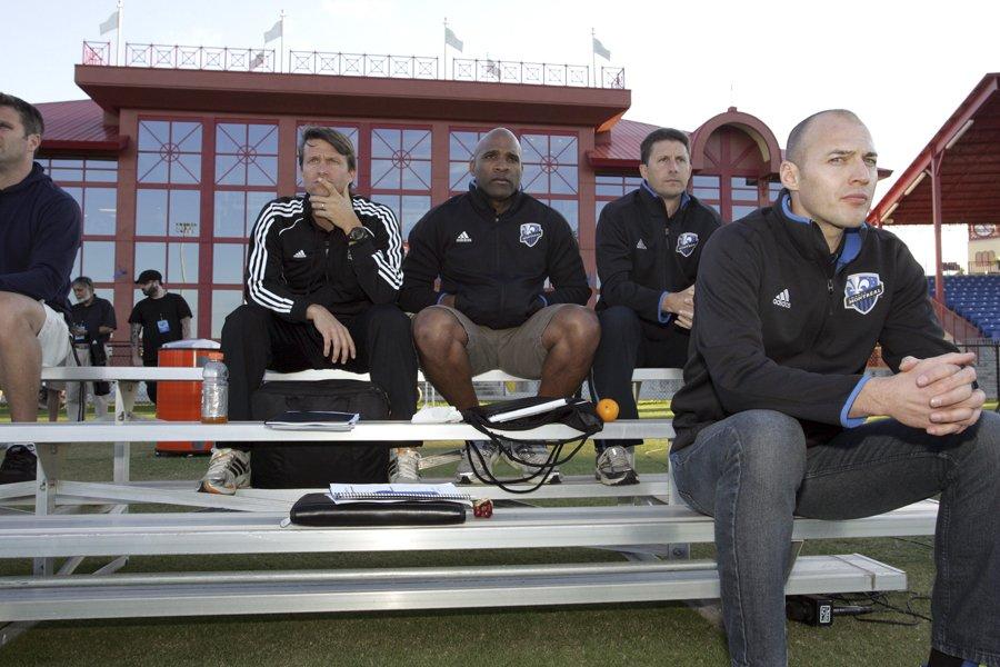 L'entraîneur-chef de l'Impact, Jesse Marsch (à gauche) a... (Photo: Andy Mead, MLS Soccer)