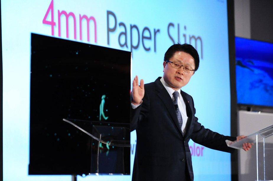 LG a volé la vedette du CES avec... (Photo: AFP)
