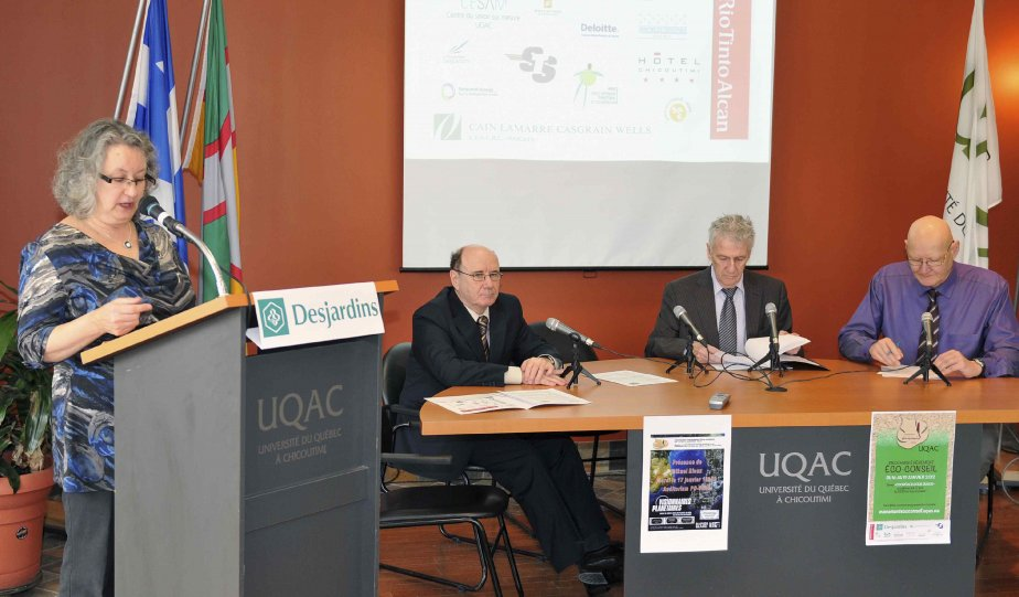 En conférence de presse, aujourd'hui, les responsables du... (Photo Jeannot Levesque)