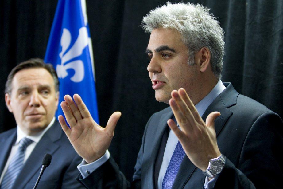 Le chef de la CAQ, François Legault, et... (Photo: Alain Roberge, La Presse)