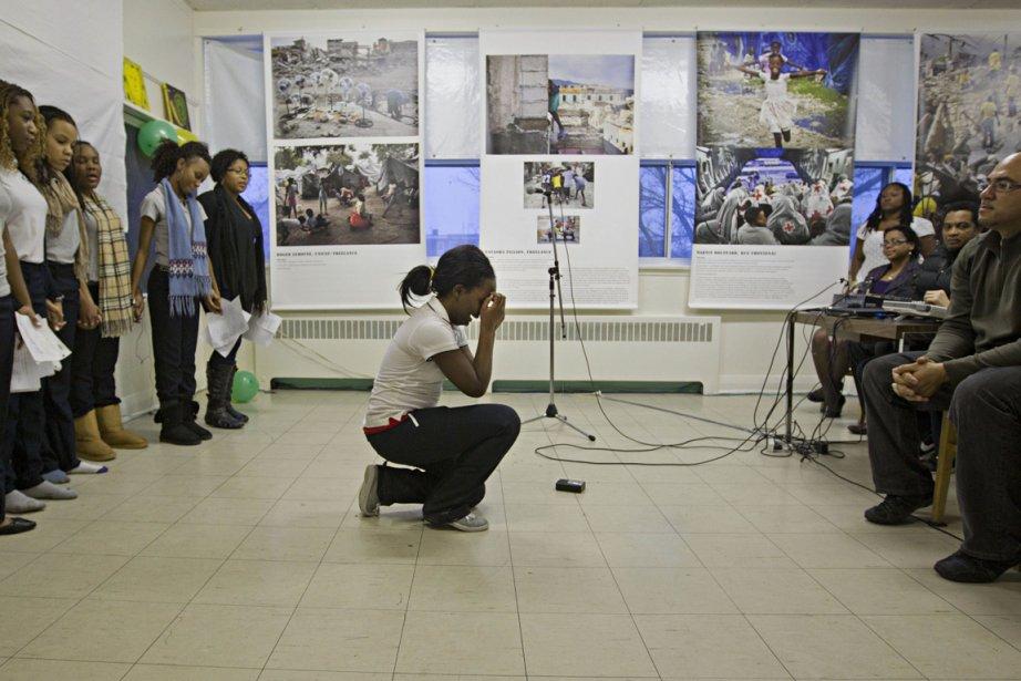Maxcarlee Lafontant, 15 ans, s'est effondrée après avoir... (Photo: Ivanoh Demers, La Presse)