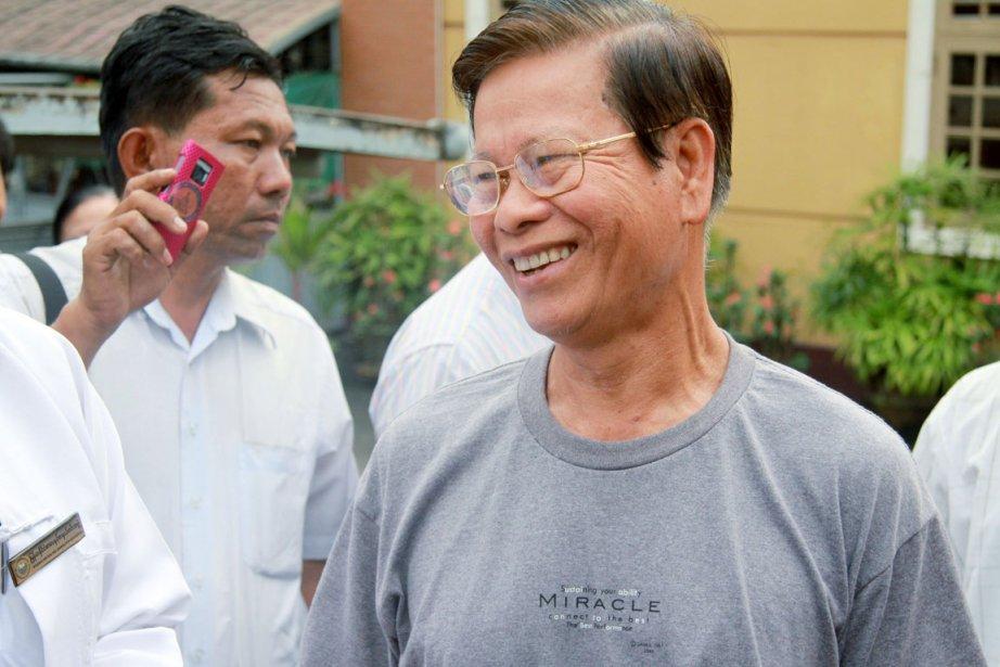L'ex-premier ministre Khin Nyunt, 72 ans, a également... (Photo: James YeAungThu, Reuters)