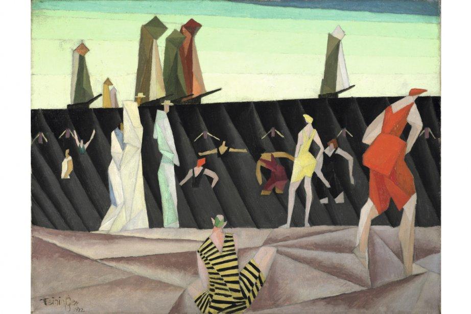 Baigneurs sur la plage, de Lyonel Feininger.... (Photo fournie par les musée national des Beaux-Arts du Québec)