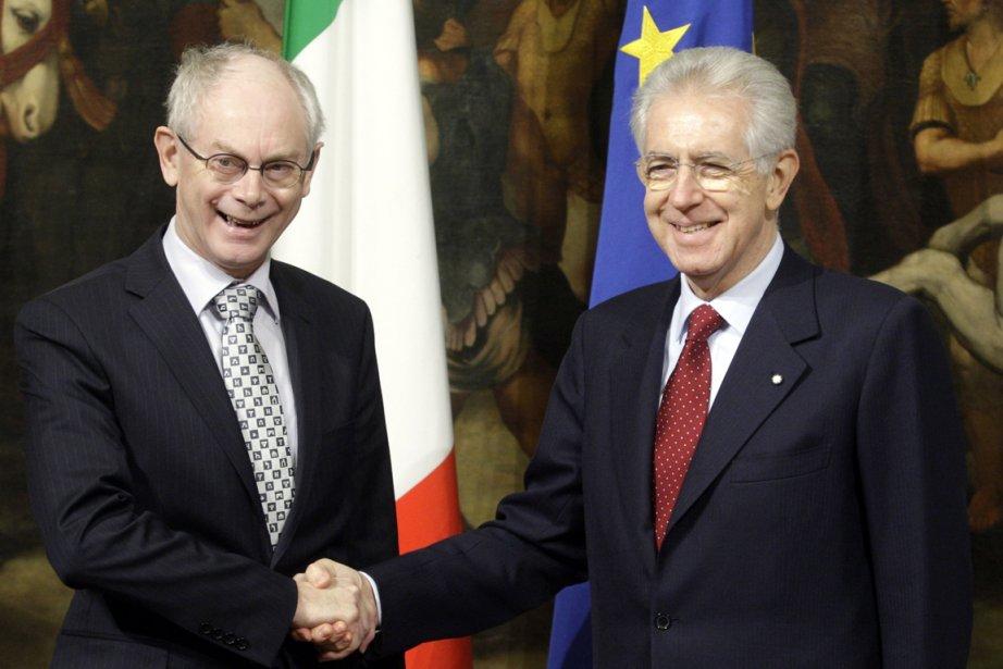Le président de l'Union Européenne, Herman Van Rompuy,... (Photo Reuters)