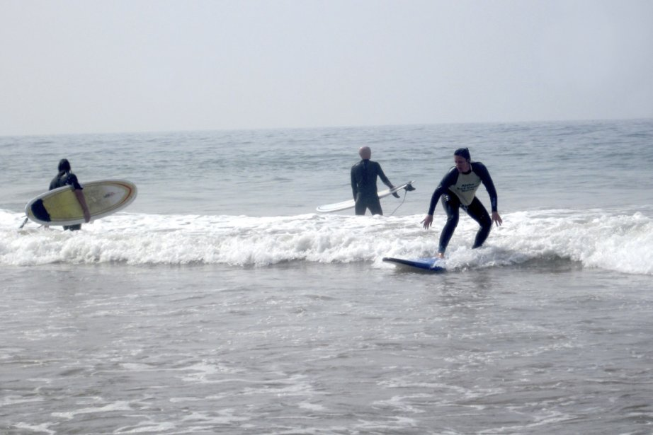 «Nous étions là pour faire du surf. Que... (Photo: Valérie Delisle)