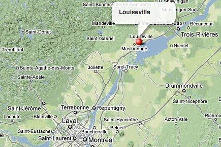 Louiseville, en Mauricie... (maps.google.ca)