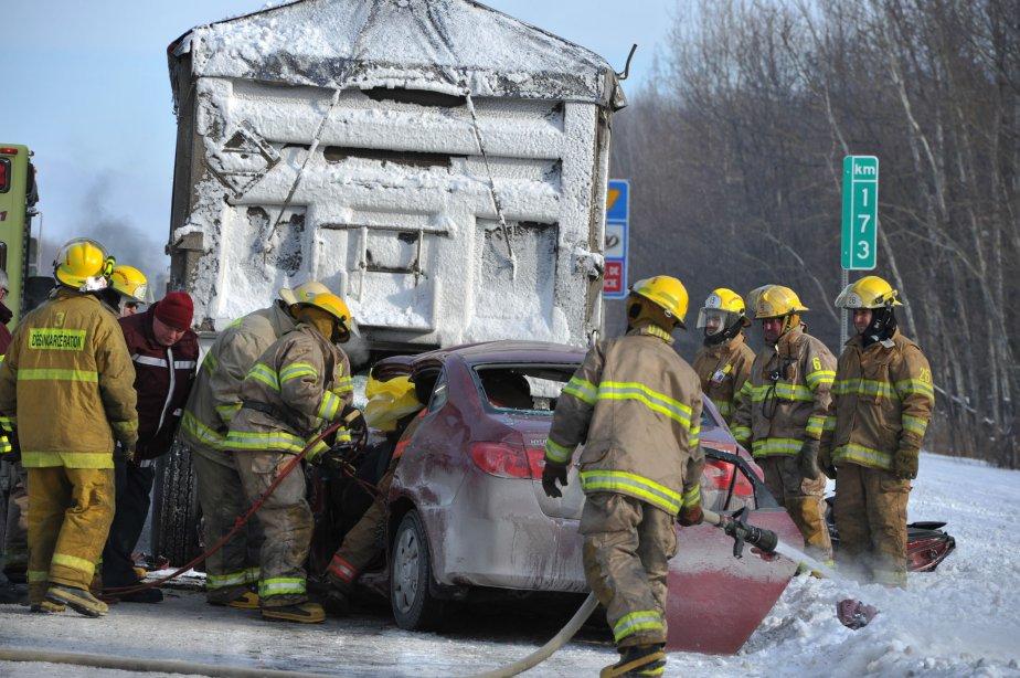 Les pompiers ont également dû intervenir en raison d'un début d'incendie. | 16 janvier 2012