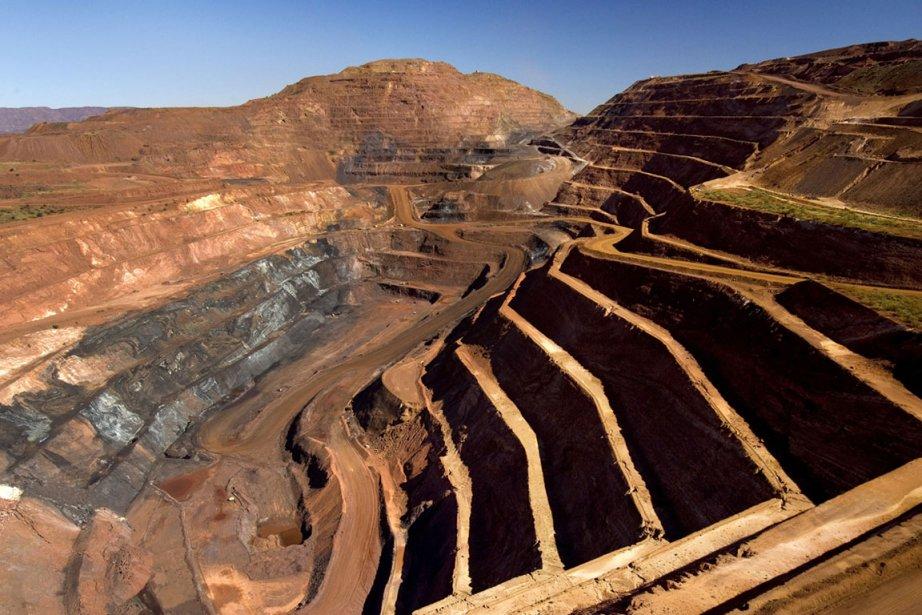 La mine de fer Pilbara de Rio Tinto... (Photo fournie par Rio Tinto)