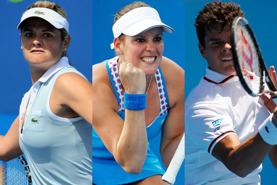 Aleksandra Wozniak, Stéphanie Dubois et Milos Raonic... (Photos: AFP et Reuters)