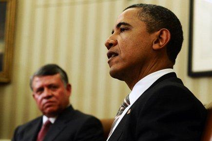 Barack Obama a accueilli mardi Abdallah II de... (Photo: AFP)
