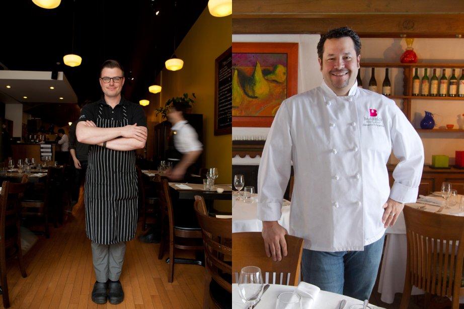 À gauche, le chef Danny St-Pierre du restaurant... (Photos: fournie par Auguste et Robert Skinner, La Presse)