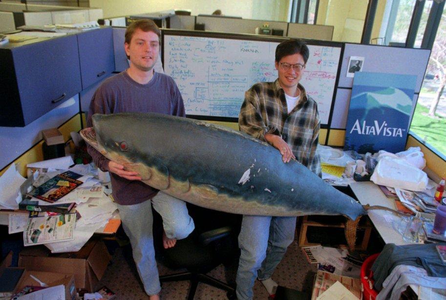 Les cofondateurs de Yahoo!, David Filo (à gauche)... (Photo: AP)