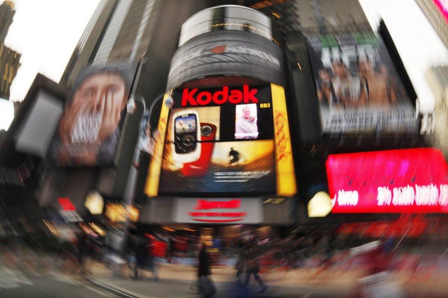 Kodak un centenaire d 39 innovations cyberpresse for Photo ecran times square