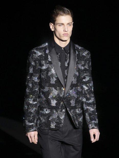 Création de Versace, présentée lors de la Semaine de mode de Milan | 19 janvier 2012