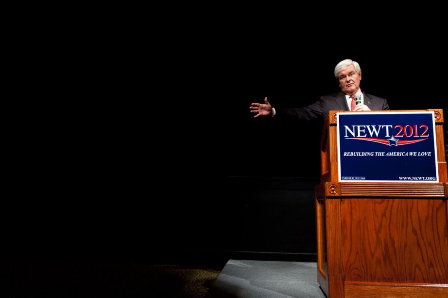 Newt Gingrich est l'un des quatre candidats à... (Photo: Paul J. Richards, AFP)