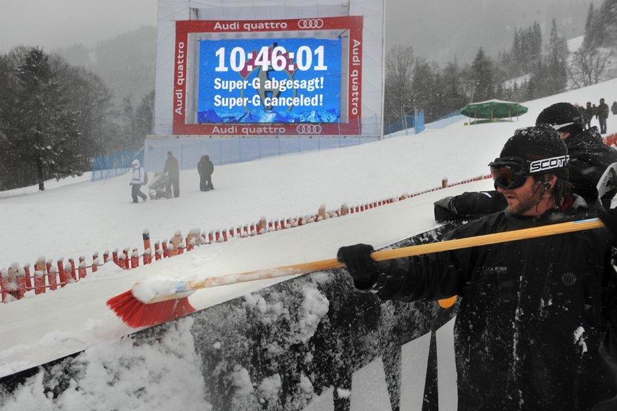 Le super-G masculin de Kitzbühel prévu vendredi a... (Photo: AFP)
