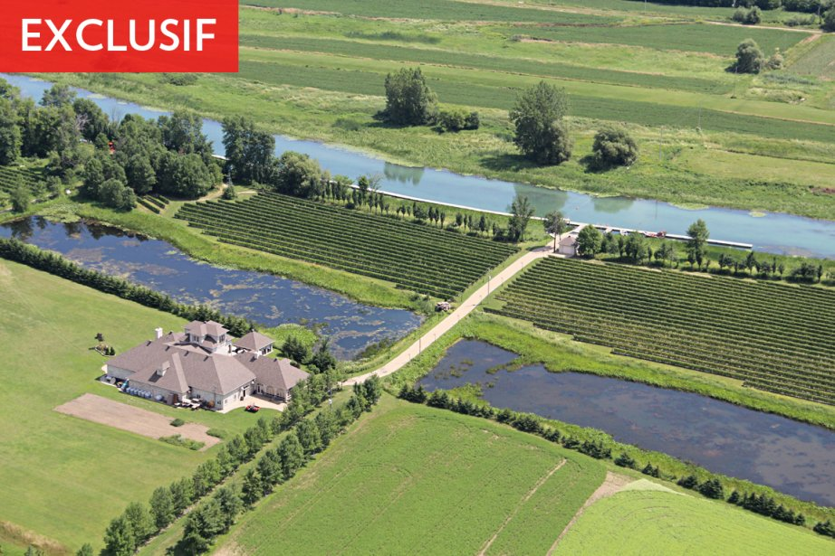Le domaine de l'île ronde, vu des airs... (Photo: François Roy, archives La Presse)